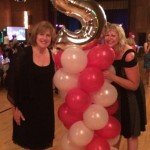 Skyline High School class of 1974 40th reunion Heidi and Nancy show off the balloon columns