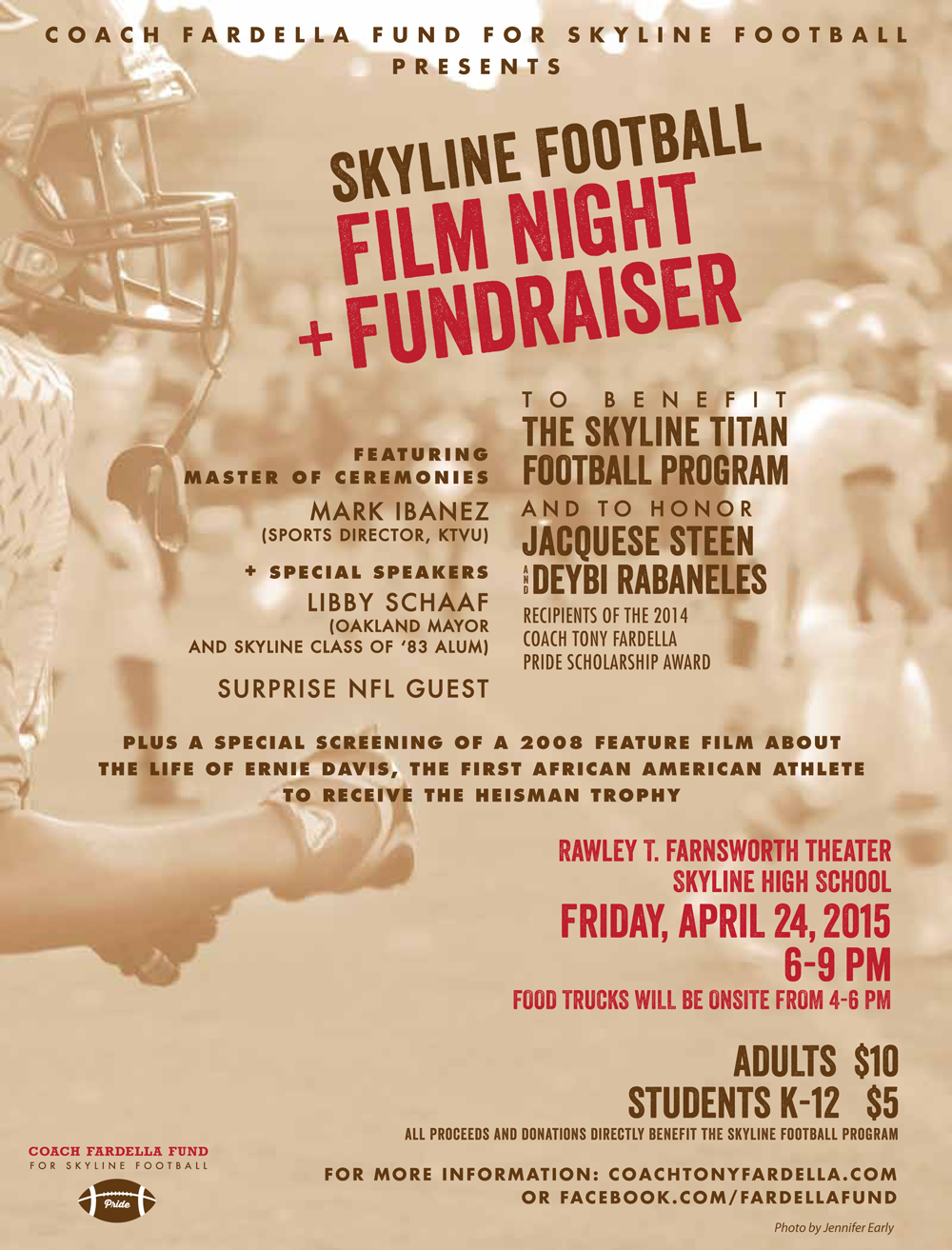 Fardella Fund Film Night at Skyline High School Oakland CA